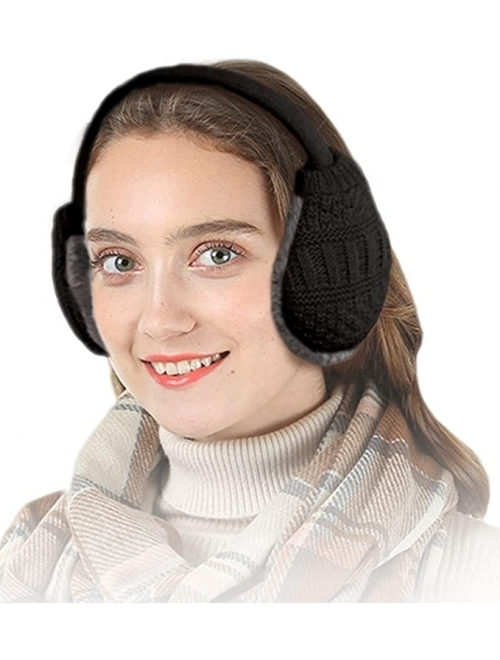 Knolee Unisex Knit EarMuffs Faux Furry Earwarmer Winter Outdoor EarMuffs