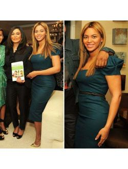 Celebrities Favorite ICONIC Roland Mouret GALAXY teal wool dress ASO Beyonce