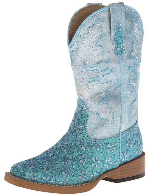 Roper Square Toe Glitter Floral Western Boot (Toddler/Little Kid)