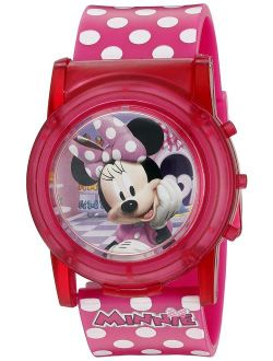 Minnie Mouse Boutique Lcd Pop Musical Watch