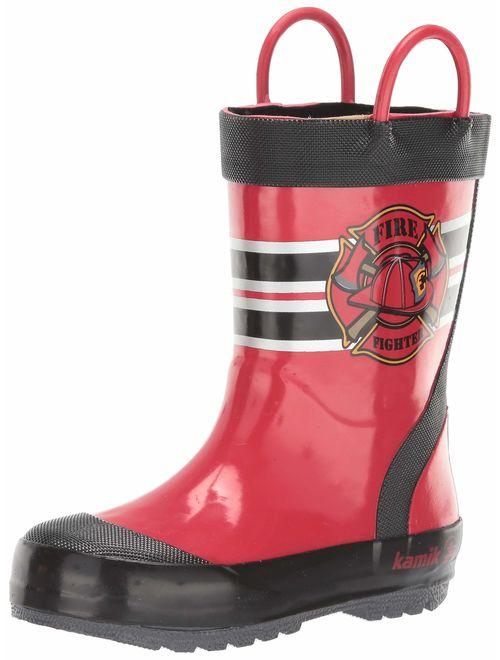 Kamik Kids' Fireman Rain Boot
