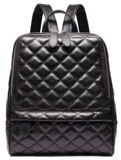 Casual Women Real Genuine Leather Backpack New Vintage Style Shoulder Bag