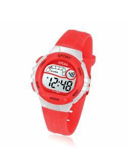Kids Digital Watch for Girls Boys 50M(5ATM) Waterproof Multi-Functional WristWatches