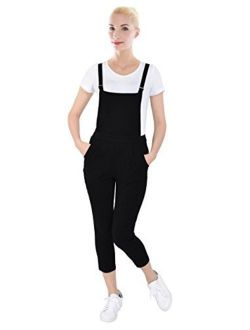 PattyCandy Womens Jumpsuit Overalls with Fitted Capri Pants