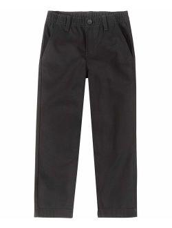 Boys' School Uniform Flat Front Twill Pant