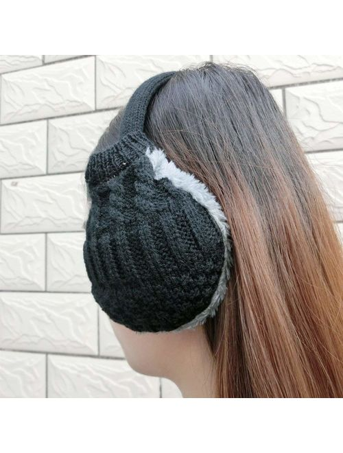 Cozy Design Women's Winter Adjustable Knitted Ear Muffs