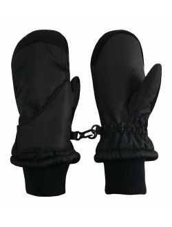 accsa Outdoor Kids Girl Breathable 3M Thinsulate Black Cute Glitter Ski Mitten Water Proof Fleece Lined Age 0-2