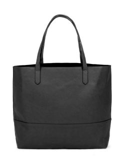 Overbrooke Large Vegan Leather Tote - Womens Slouchy Shoulder Bag with Open Top