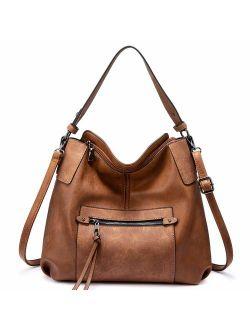 Realer Hobo Large Cross-body / Shoulder Bag with Tassel