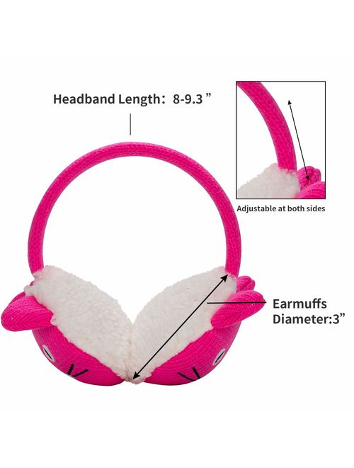 Knolee Unisex EarMuffs Faux Furry Earwarmer Winter Outdoor EarMuffs