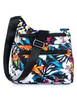 Nylon Multi-pocket Crossbody Purse Bags For Women Travel Shoulder Bag