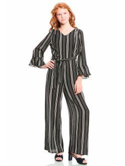 TRULY ME, Big Girls' Designer Printed Spring/Summer Jumpsuit, Size 7-16