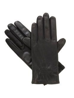 Women's Classic Stretch Leather Touchscreen Cold Weather Gloves, Fleece Lining