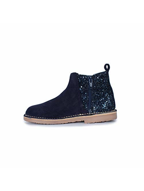 Childrenchic Suede Chelsea Boots with Sparkle Heels (Toddler/Little Kid/Big Kid)