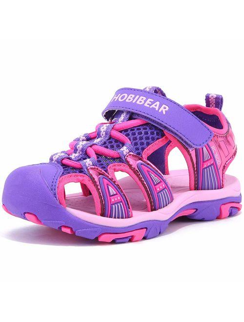 BODATU Boys' and Girls' Summer Outdoor Beach Sports Closed-Toe Sandals(Toddler/Little Kid/Big Kid)
