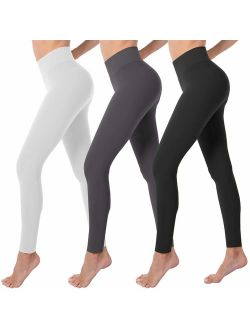 VALANDY High Waist Tummy Control Leggings for Women Buttery Soft Stretch Workout Yoga Pants One&Plus Size