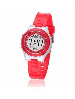 Kids Digital Watches for Girls Boys,Child Cute Waterproof Wristwatch Outdoor Multifunctional Watches