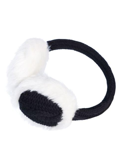 Women's Winter Knit Fluffy Ear Warmer Earmuffs