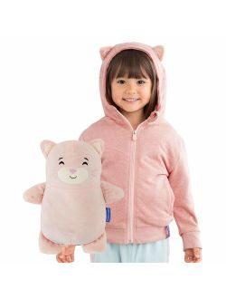 Cubcoats Kali The Kitty - 2-in-1 Transforming Hoodie and Soft Plushie - Soft Pink