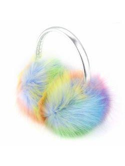 NWK Ear Muff Earmuff Ear Warmer for Women Girls 2019 Winter Faux Fur Christmas GIfts for Mom Daughter