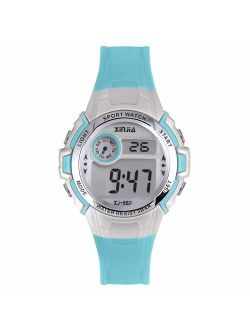 Kids Digital Watch for Boys Girls,Children 50M(5ATM) Waterproof Sports Outdoor LED Multi Functional Wrist Watches with Alarm for Children (Blue)