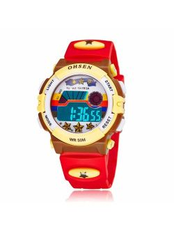 Kids Electronic Watch for Boys and Girls,LED Display Outdoor Sports Waterproof and Multi-Function,Best Holiday and Birthday Gifts.