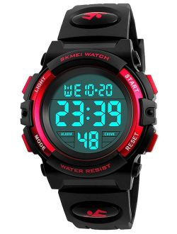 Boys Girl Digital Multifunction 50M Waterproof Alarm Stopwatch Calendar EL Backlight 12H/24H Sports Watch