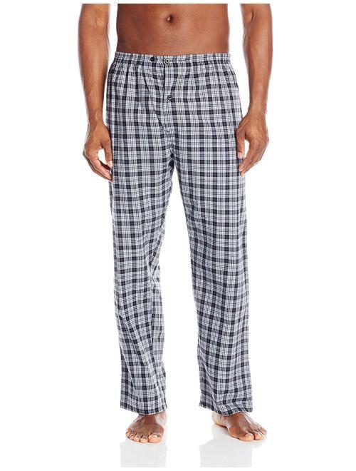 Hanes Mens Plaid Woven Blend Lounge Pajama Sleep Pant