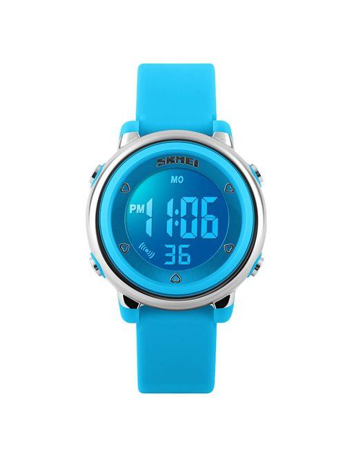 Kids Girls Waterproof Sports Digital Watches for Age 4-10