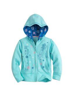 Frozen Zip Hoodie For Girls Blue