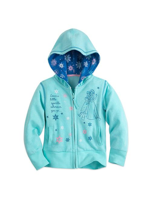 Disney Frozen Zip Hoodie for Girls Blue
