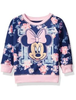 Girls' Minnie Mouse Floral All Over Print French Terry Sweatshirt