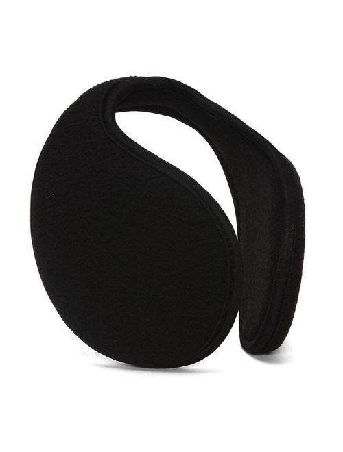 Winter Fleece Ear Muffs Ear Warmer Cover, Black