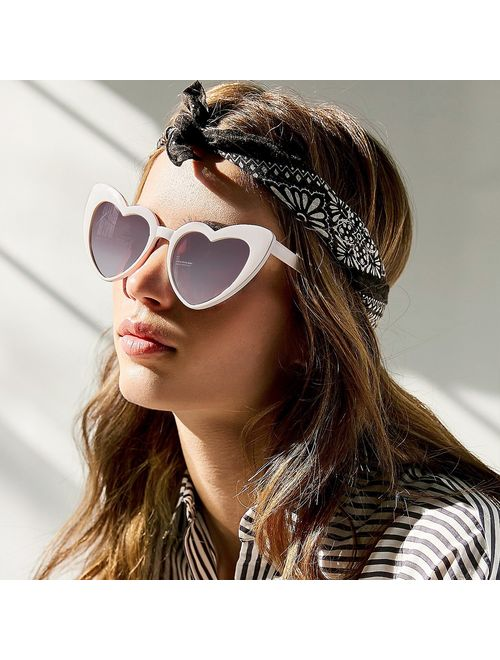 Clout Goggle Heart Sunglasses Vintage Cat Eye Mod Style Retro Kurt Cobain  Glasses | Topofstyle