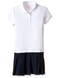 Girls' School Uniform Short Sleeve Polo Dress