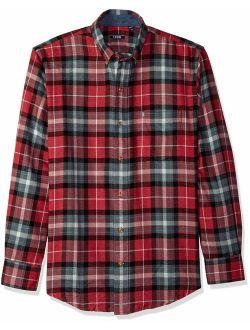 Men's Stratton Long Sleeve Button Down Plaid Flannel Shirt