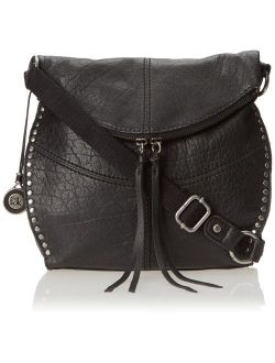 Silverlake Leather Fold Over Detail Crossbody Bag