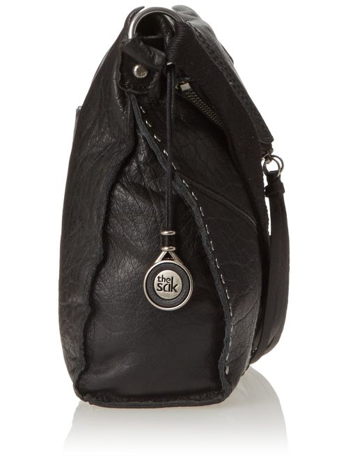 The SAK Silverlake Leather Fold Over Detail Crossbody Bag