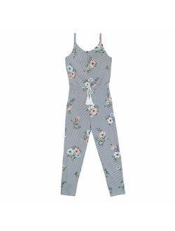 Girls' Big Sleeveless Scoop Neck Jumpsuit