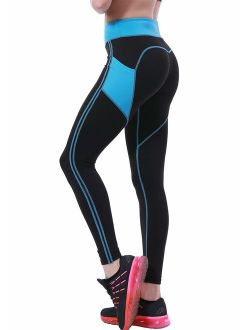 OVESPORT Women's Yoga Pants with Pockets High Waist Active Workout Leggings for Running Sports Fitness Gym