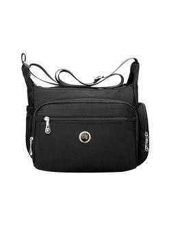 Fabuxry Crossbody Handbag for Women Organize Pack Shoulder Bag Messenger Purses