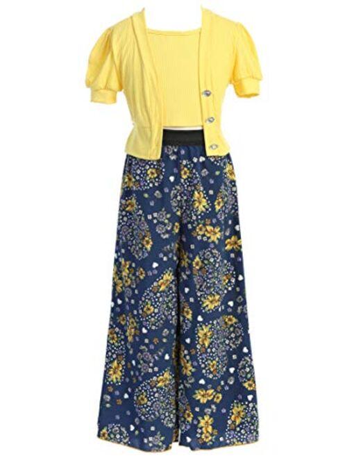 BluNight Collection Little Girls Sleeveless V Neck Rhinestones Maxi Skirt Short Jumpsuit Romper USA