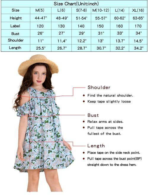 AuroraBaby Girls Applique Shift Black Casual Summer Cute T-shirt Dresses for Kid 7-16