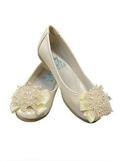 Swea Pea & Lilli Girls Flats with Pearl Bow Ballet Flat Shoes