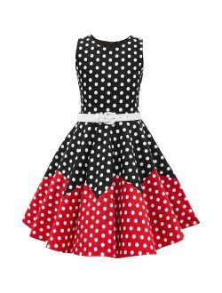 BlackButterfly Kids 'Amy' Vintage Polka Dot 50's Girls Dress