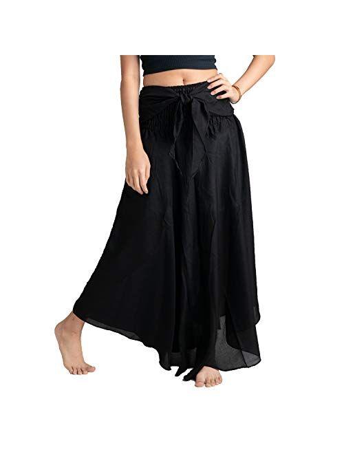 Bohemian Womens Maxi Skirt Boho Long Skirt Gypsy Style Red Elephant One Size Fits