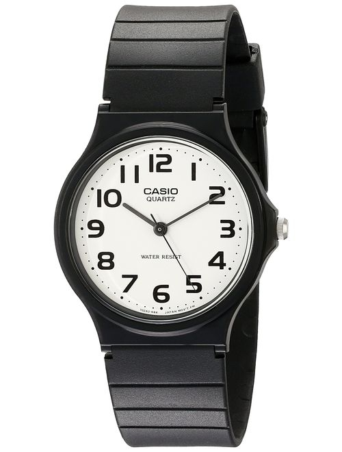 Casio Men's Classic Quartz Watch with Resin Strap, Black, 20 (Model: EAW-MQ-24-7B2)