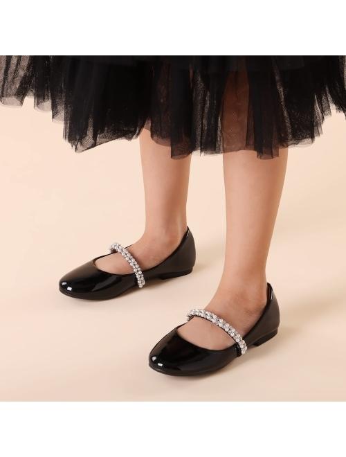 DREAM PAIRS Girls Serena-100 Mary Jane Ballerina Flat Shoes