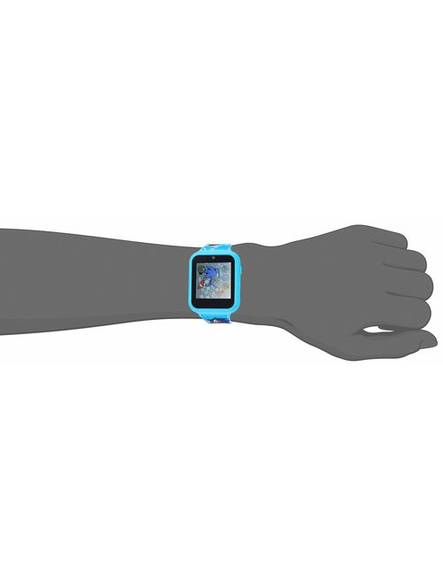 Sonic the Hedgehog Touch-Screen Smartwatch, Built in Selfie-Camera, Non-Toxic, Easy-to-Buckle Strap, Blue Smartwatch - Model: SNC4055AZ