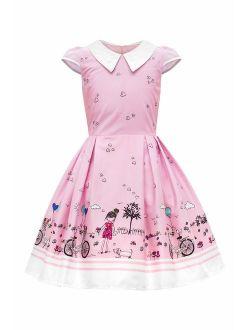 BlackButterfly Kids 'Olivia' Vintage Sunshine 50's Children's Girls Dress